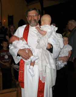 Pastoral services include baptisms, weddings, funerals, and confirmations.